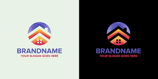 Immobilien bunte agentur logo vorlage Premium Vektoren