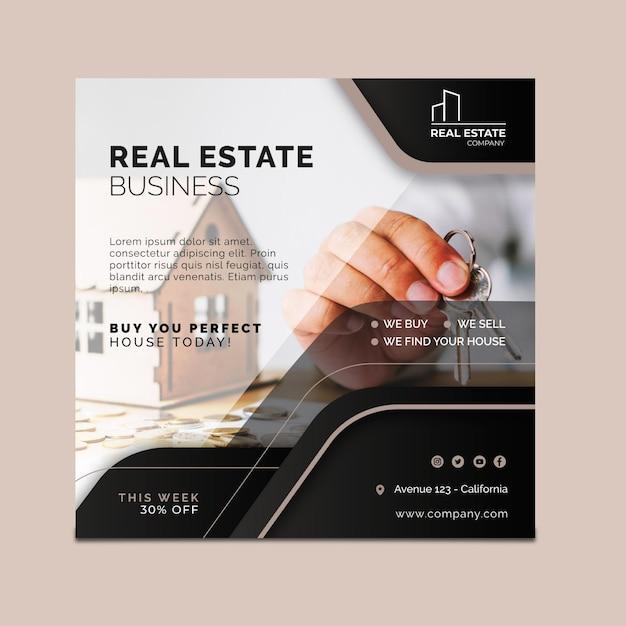 Immobilien flyer platz Kostenlosen Vektoren
