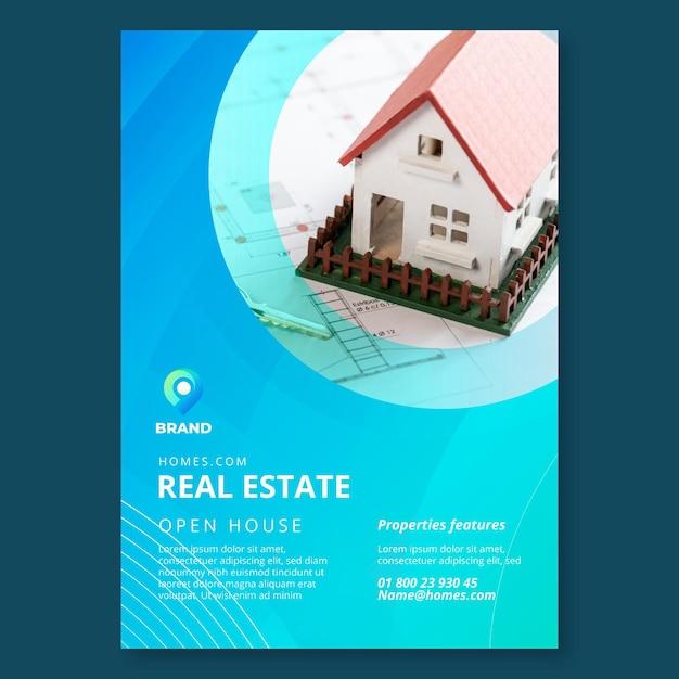 Immobilien flyer vorlage Kostenlosen Vektoren