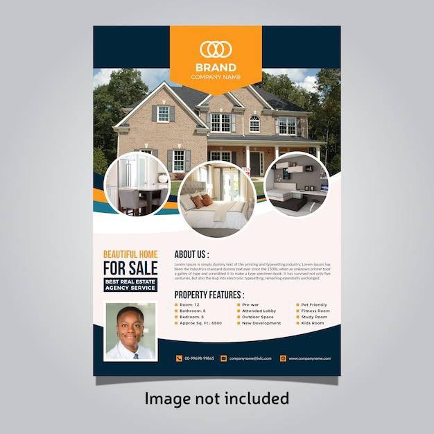 Immobilien flyer vorlage Premium Vektoren