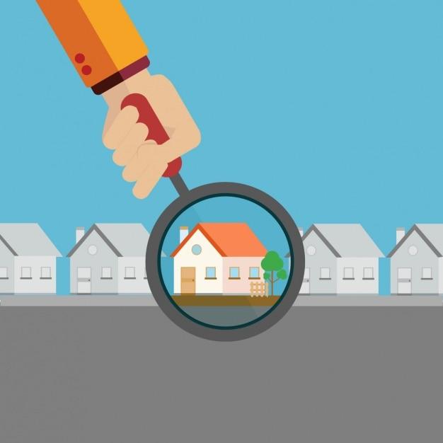 Immobilien-hintergrund-design Kostenlosen Vektoren