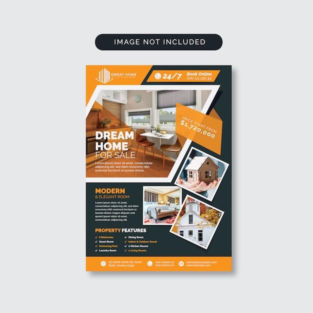 Immobilien home sale flyer Premium Vektoren
