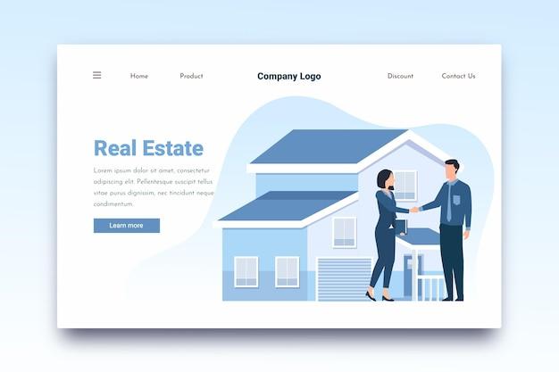 Immobilien-landingpage für makler und kunden Kostenlosen Vektoren