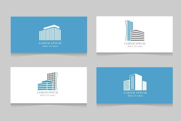 Immobilien Logo Mit Visitenkarte Vorlage Design Download