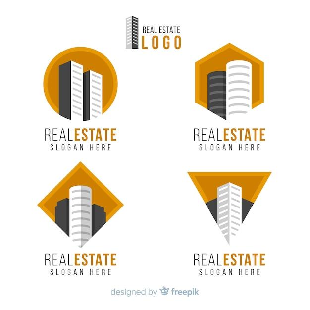 Immobilien-logo-sammlung Kostenlosen Vektoren
