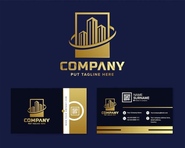 Immobilien-logo vorlage für unternehmen Premium Vektoren