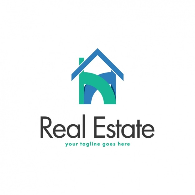 immobilien logo vorlage download der kostenlosen vektor. Black Bedroom Furniture Sets. Home Design Ideas