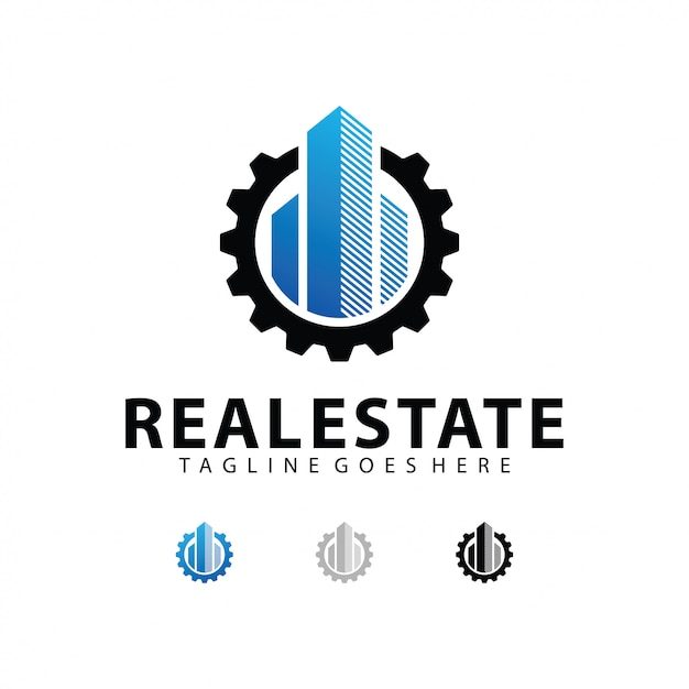 Immobilien logo vorlage Premium Vektoren