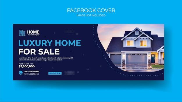 Immobilien social media cover post banner vorlage Premium Vektoren