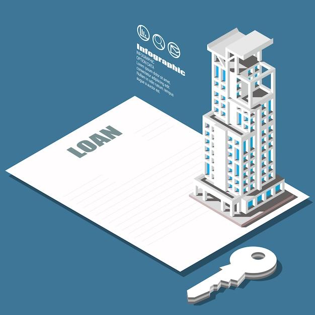 Immobilien- und eigentumskonzept. Premium Vektoren