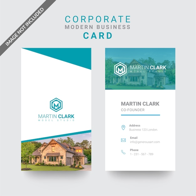 Immobilien Visitenkarte Vorlage Premium Vektor