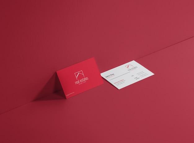 Immobilien Visitenkarte Download Der Premium Vektor