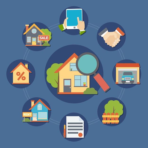 Immobilien zusammensetzung Kostenlosen Vektoren
