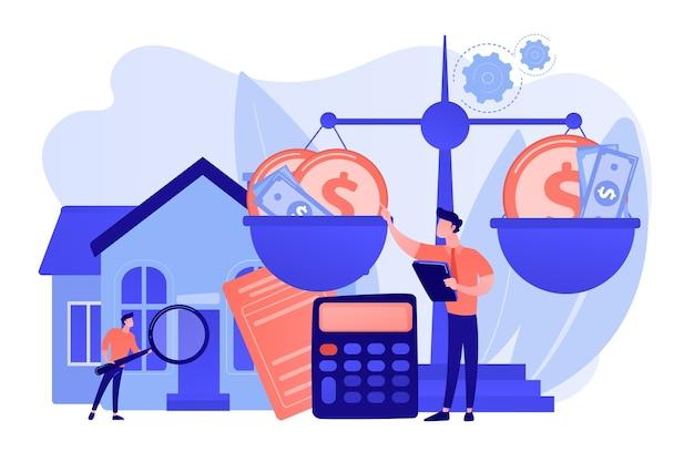 Immobilienagentur, verkauf und kauf von immobilien. finanzberatung Kostenlosen Vektoren