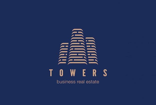 Immobilienbaulogo-symbol. Premium Vektoren
