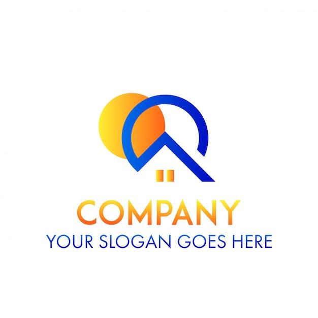 Immobilienfirma real estate logo concept Premium Vektoren