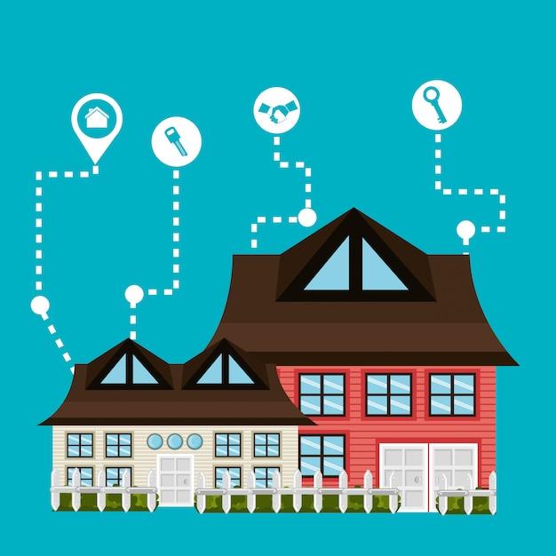 Immobiliengeschäft und gewinne Kostenlosen Vektoren