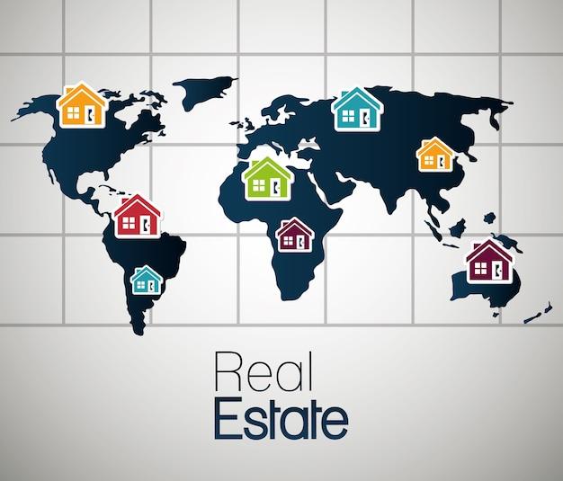 Immobilienhaus Wohnungsmiete Lokalisierte Design Download Der