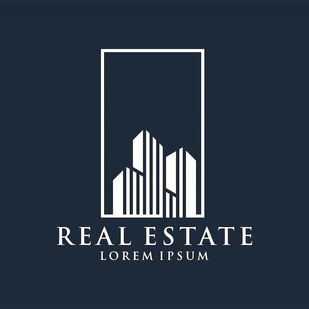 Immobilienlogo erstklassiger vektor Premium Vektoren