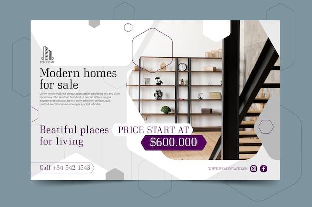 Immobilienvorlage banner Kostenlosen Vektoren