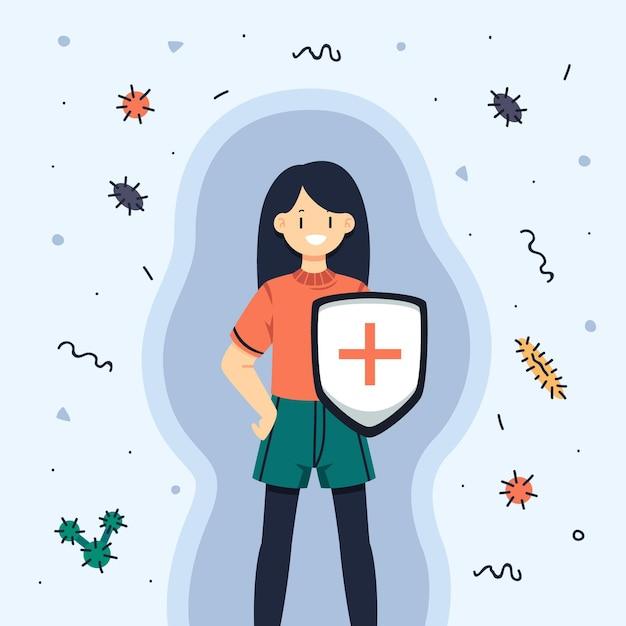 Immunsystemkonzept Kostenlosen Vektoren