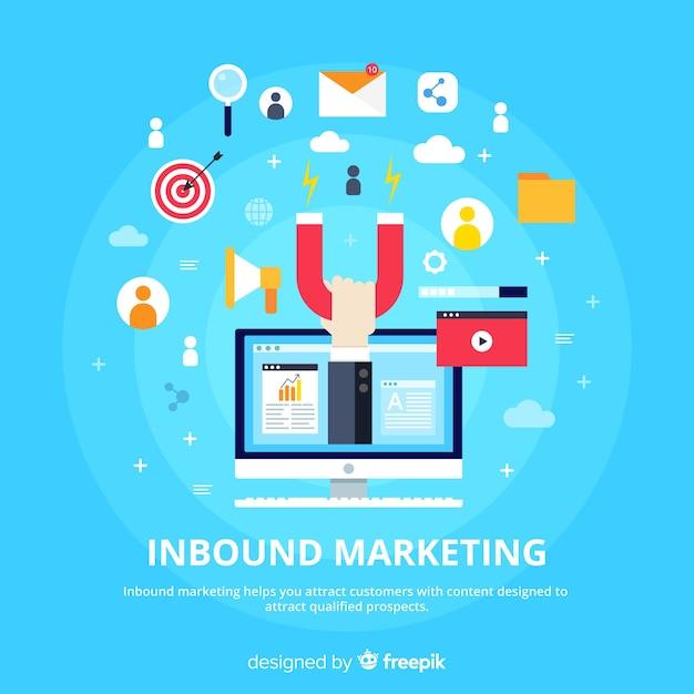 Inbound marketing hintergrundvorlage Kostenlosen Vektoren