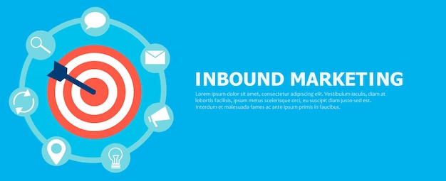 Inbound marketing. Kostenlosen Vektoren