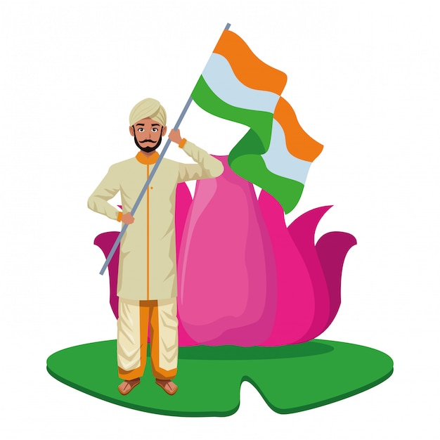 Inder avatar-zeichentrickfigur Premium Vektoren