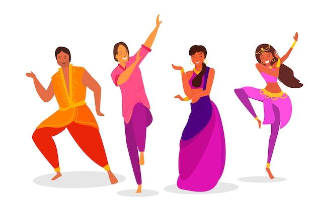 Inder tanzen bollywood Kostenlosen Vektoren