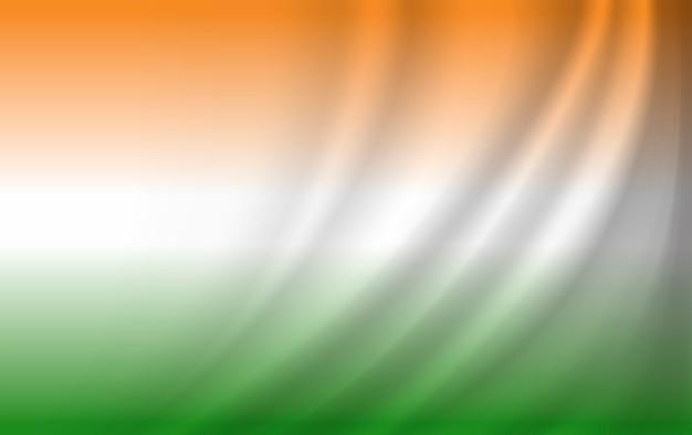 Indien flagge hintergrunddesign Premium Vektoren