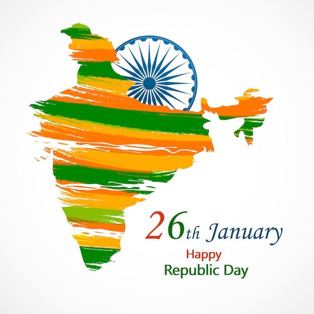 Indien tag der republik für den 26. januar. Premium Vektoren