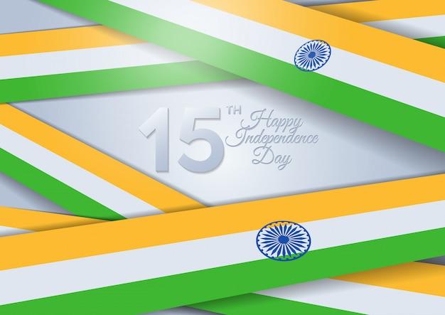 Indien unabhängigkeitstag. indien. 15. august Premium Vektoren