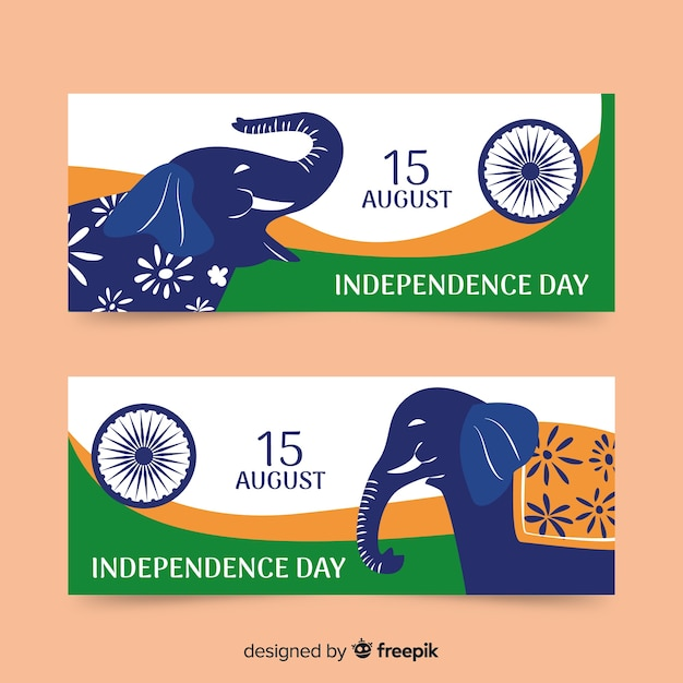 Indien unabhängigkeitstag Kostenlosen Vektoren