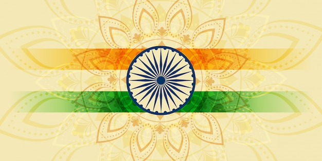 Indische glückliche unabhängigkeitstagfeiertagsfahne Kostenlosen Vektoren