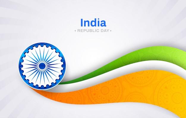 Indische republik tag konzept Premium Vektoren