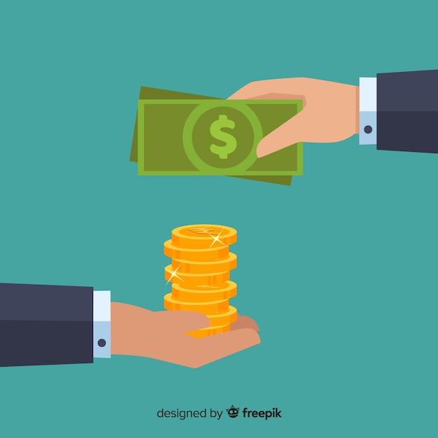 Indischer rupie-austausch Kostenlosen Vektoren