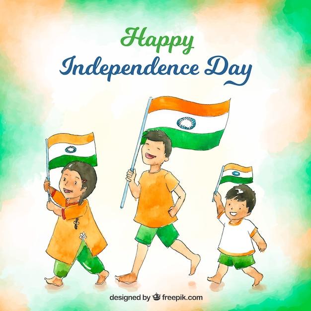 Indischer unabhängigkeitstag hintergrund Kostenlosen Vektoren