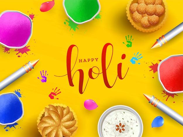 Indisches festival holi hintergrund. Premium Vektoren