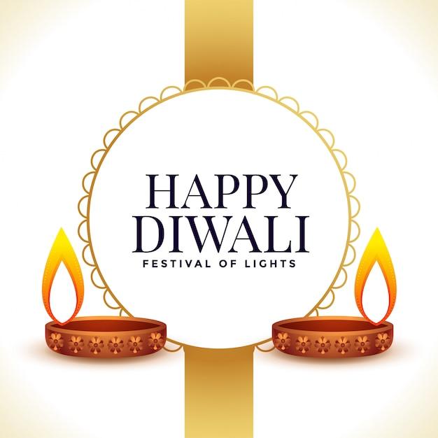 Indisches glückliches diwali feier-illustrationsfestival Kostenlosen Vektoren