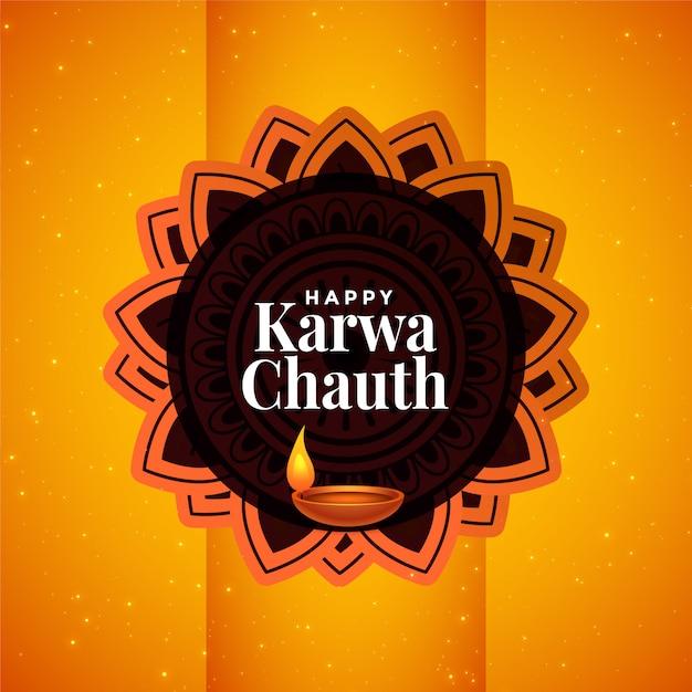 Indisches glückliches karwa chauth festival schön Kostenlosen Vektoren