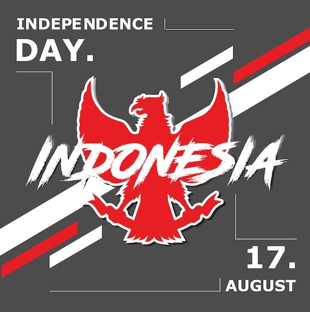 Indonesien independece day celebration hintergrund Premium Vektoren