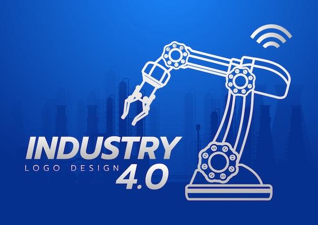 Industrie 4.0-konzept Premium Vektoren