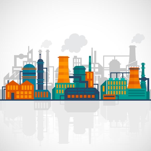 Industrie hintergrund-design Kostenlosen Vektoren