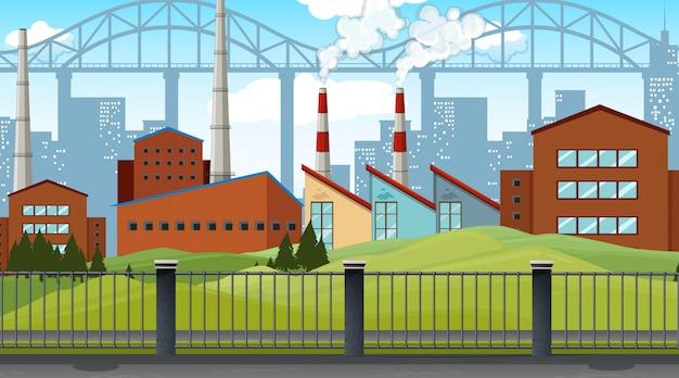 Industriegebiet illustration Kostenlosen Vektoren