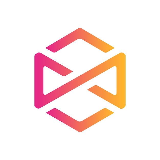 Infinity hexagon icon design Premium Vektoren