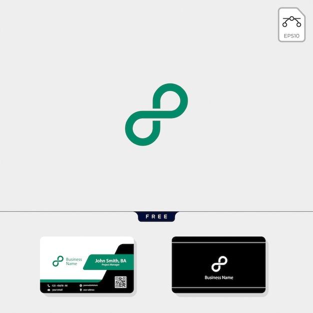 Infinity-logo, erhalten sie eine kostenlose visitenkarte-designvorlage Premium Vektoren