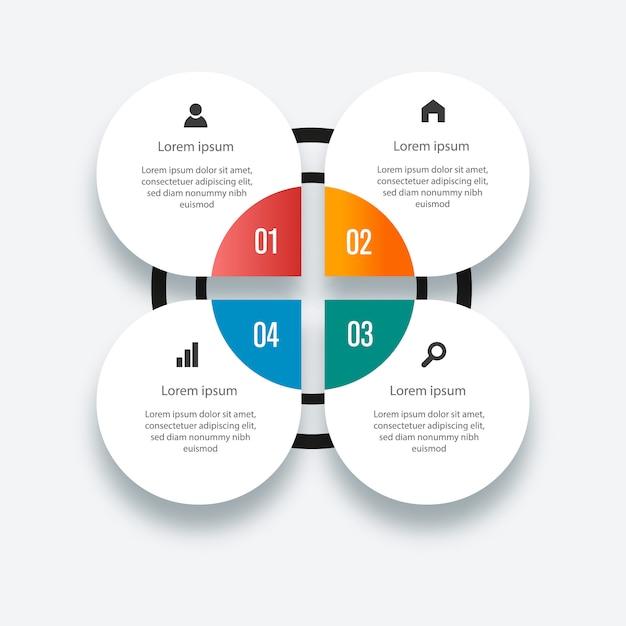 Info grafische elemente. bunte infografik-vorlage Premium Vektoren