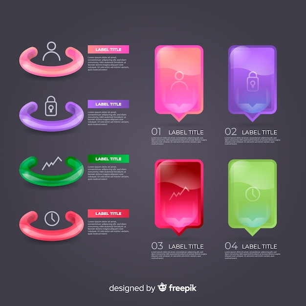 Infografic elementsammlung Kostenlosen Vektoren
