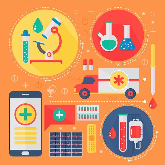 Infografik-design für moderne medizin und gesundheitsdienstleistungen Premium Vektoren