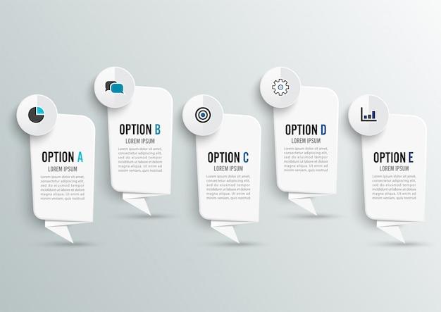 Infografik-design und workflow-layout. Premium Vektoren